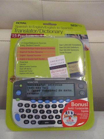 Electronic Translator, Spanish to English