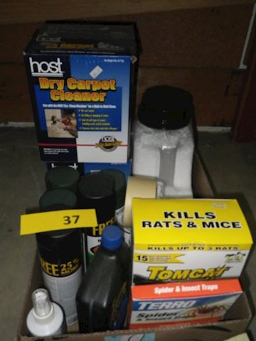 Lot #37 - Spray Paint and Chemicals (Basement)