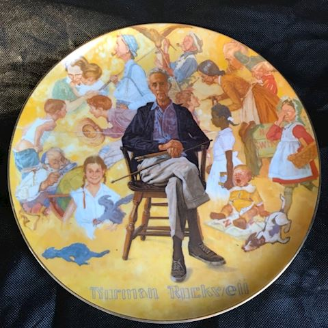 Norman Rockwell Dinner Plate