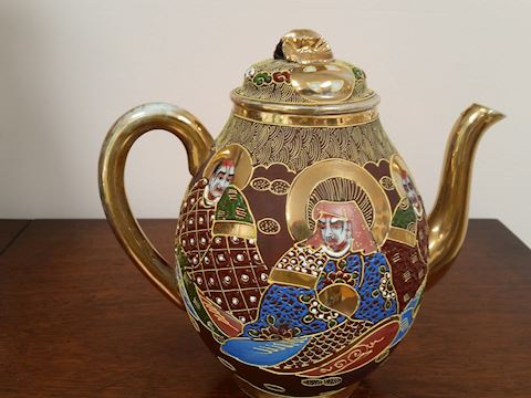 ANTIQUE RUSSIAN GOLD GILT TEAPOT
