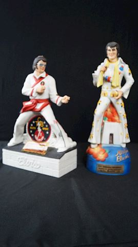 Lot #21 Aloha Elvis & Karate Elvis Decanters