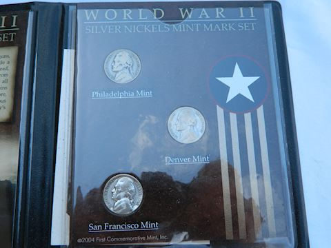 """WWII Nickles - The only """"silver nickles"""" Minted"""