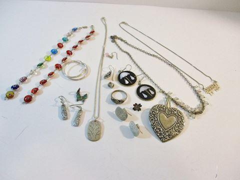 Vtg Lot of Mixed Sterling Jewelry/ Scrap and Wear