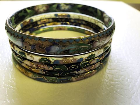 Cloisonne Bracelet Lot