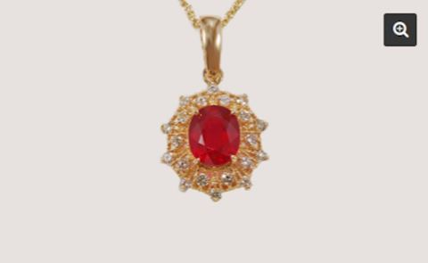 14K GOLD Ruby Pendant