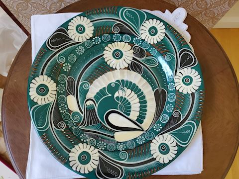 Ceramic decorative wall platter