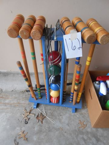 Lot #162 Croquet set