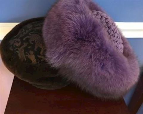 Pair of fur hats