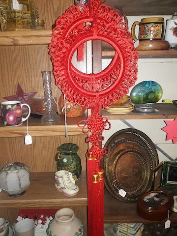 Vintage Red Hanging Asian Decor with tassels