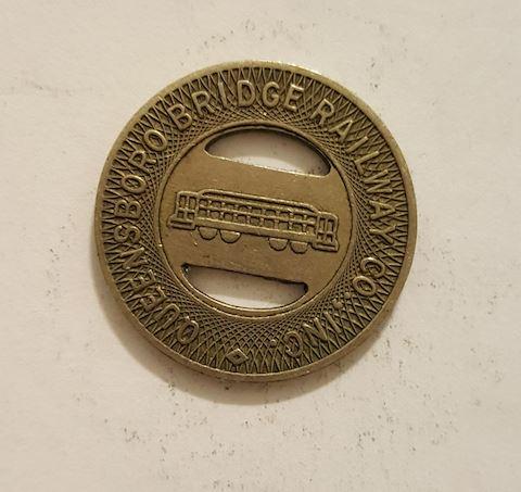 Queensboro Bridge Railway Trolley Token