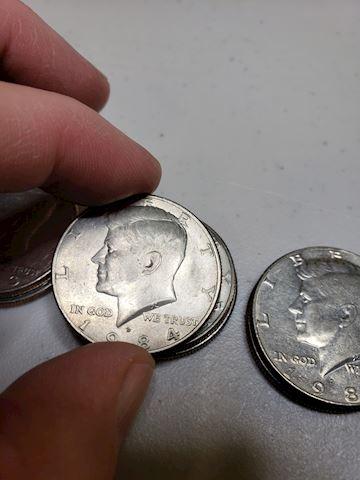 11-JFK Denver Mint Half Dollars from the '80's