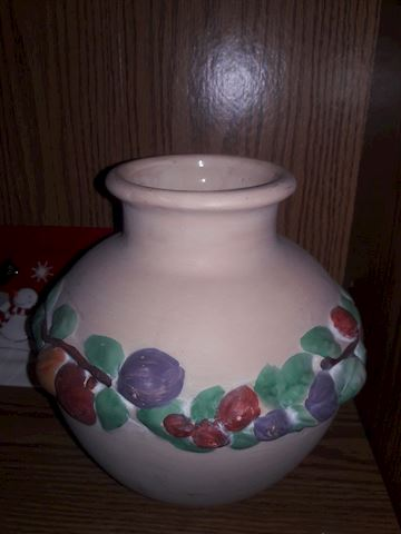 Vintage Hand Painted Clay pot