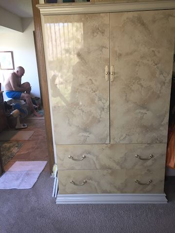 Faux Marble made in Italy bedroom set