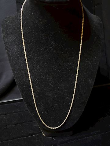 """22"""" 925 Silver Rope Chain"""