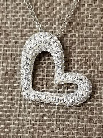 Silvertone Heart Necklace