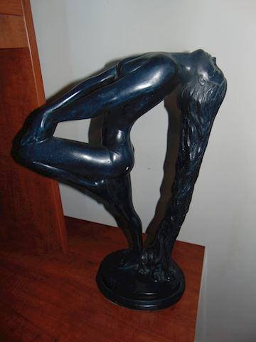 Signed contemporary statue