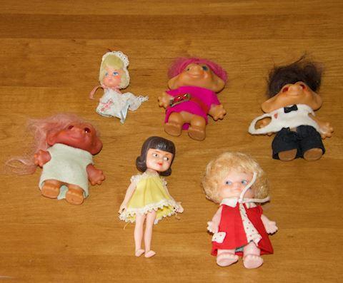 Trolls and  Miniature Dolls