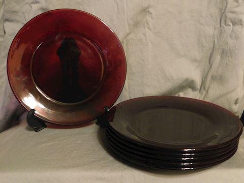 Six salad plates