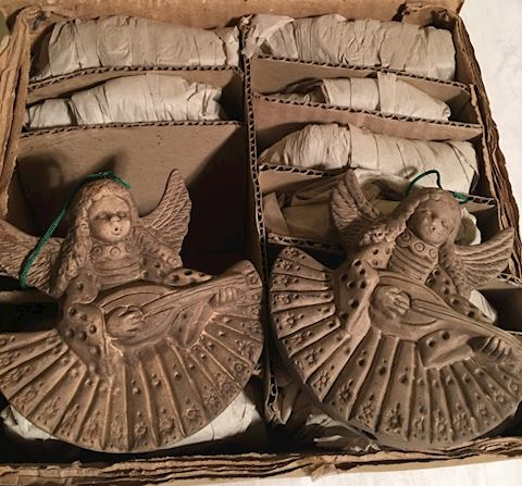Set of 12 New in Box Angel Ornaments