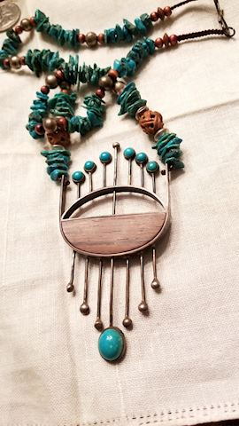 Turquoise artsy necklace