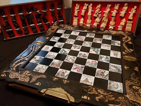 Asian Wooden Chess Set