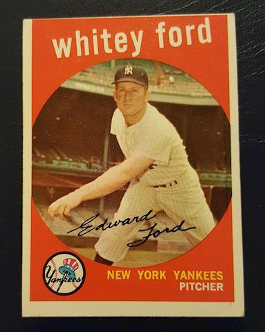 1959 Whitey Ford Baseball Card #430
