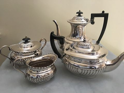 Antique English Sheffield Silverplate Teaset