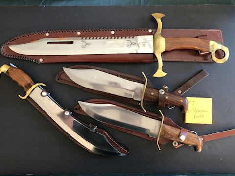 Collection of 4 Pakistan Large Knives Lot 7