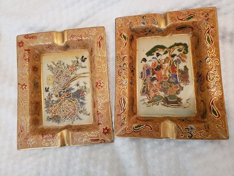 Asian Ashtrays or Incense Trays