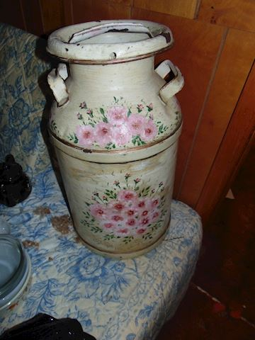 Antique Painted Milk Can