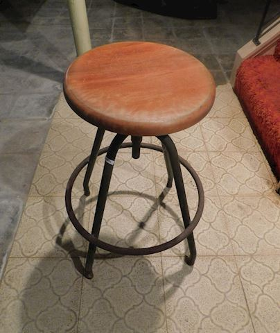 094 Red Swivel Stool