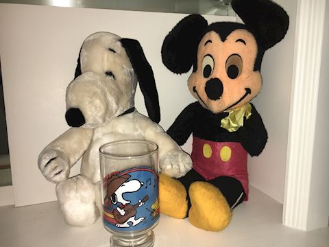 Snoopy and Mickey