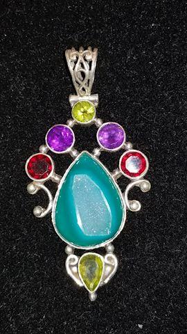 Sterling fancy pendant