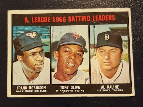 1966 Batting Leaders Baseball Card #239