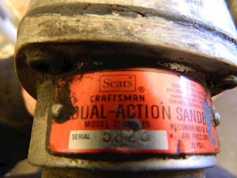 Dual Action Air Tool Sander