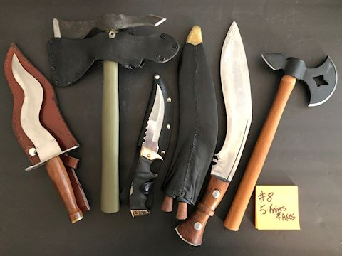 Collection of Knives and Axes Lot 8