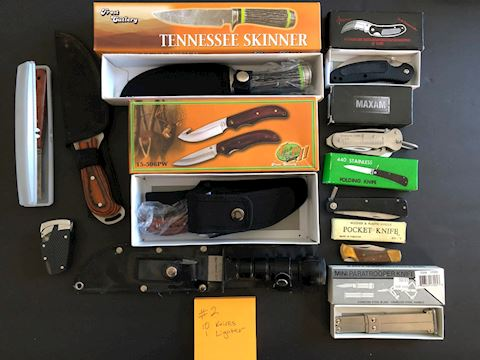 Collection of 10 Knives and 1 Lighter Lot 2