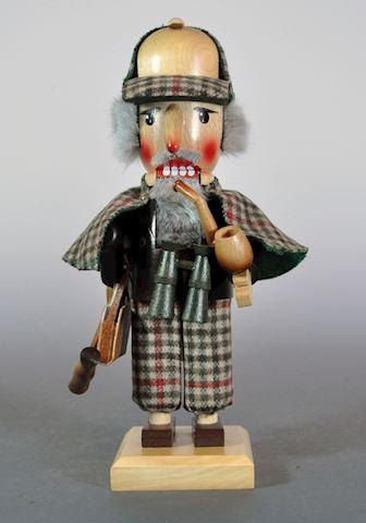"""1980s Steinbach 12"""" Sherlock Holmes Excellent Cond"""