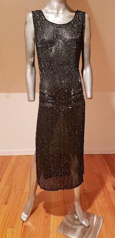 Antique 1918 Art Deco flapper bead dress Must see