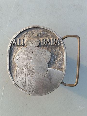 Ali Baba Aubrey Beardsley cover art belt buckle