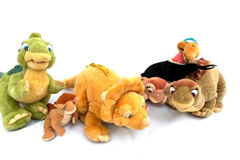 Land Before Time Vintage Stuffed Animal Set Lot 02