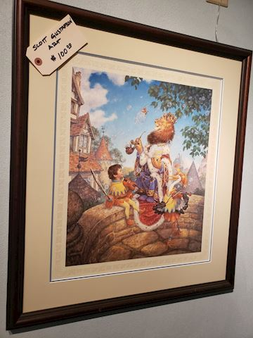 "Scott Gustafson Signed Artwork ""Old King Cole"""