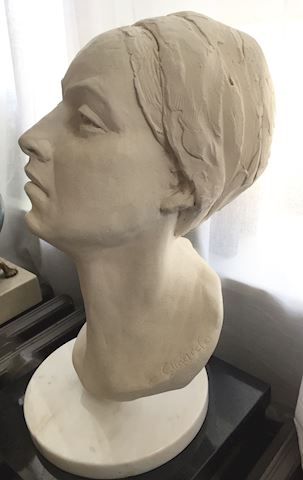 Lot 9 Sculpture by S.Clinard The Muse white clay