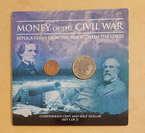 Civil War Replica Coin Set Half Cent & Half Dollar