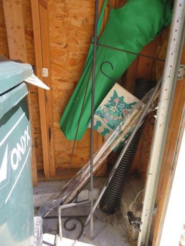 Shepard Hooks, Folding Chair, Garden Flag & holder