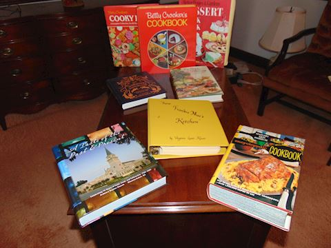 Grouping Vintage Cookbooks