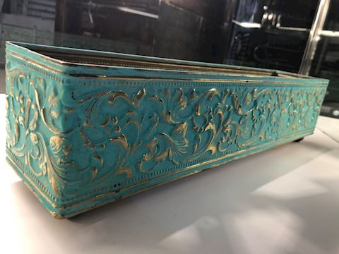 Painted Brass Planter