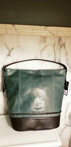 NWT Tignanello classic leather Bucket Bag  jupiter