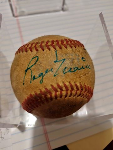 Appears to be Roger Maris Early Years autographed