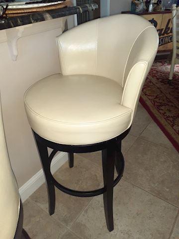 White/ Off White Cushion Bar Stools